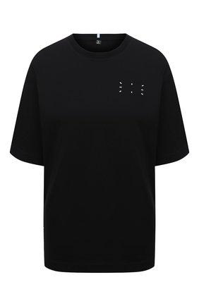 Женская хлопковая футболка MCQ черного цвета, арт. 624833/RPR21 | Фото 1
