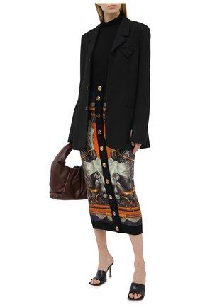 Женская шерстяная юбка BALMAIN разноцветного цвета, арт. UF04485/K184 | Фото 2