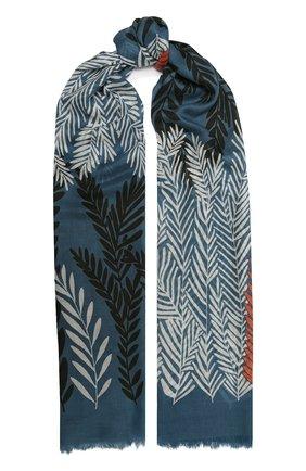Женская шаль из кашемира и шелка LORO PIANA синего цвета, арт. FAL4102 | Фото 1