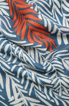 Женская шаль из кашемира и шелка LORO PIANA синего цвета, арт. FAL4102 | Фото 2
