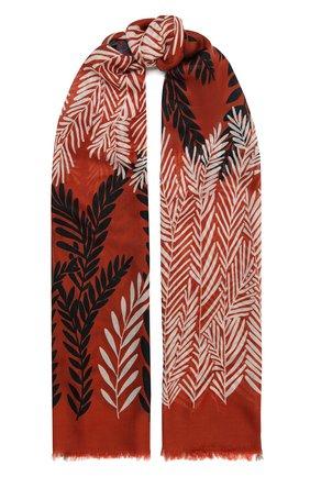 Женская шаль из кашемира и шелка LORO PIANA оранжевого цвета, арт. FAL4102 | Фото 1
