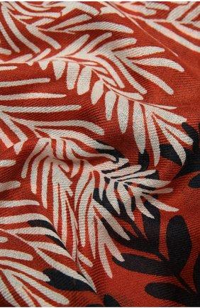 Женская шаль из кашемира и шелка LORO PIANA оранжевого цвета, арт. FAL4102 | Фото 2