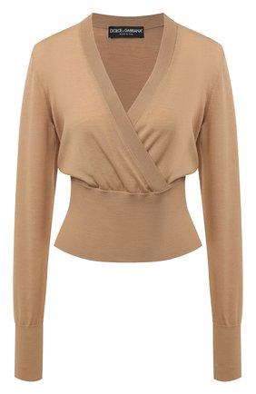 Женская шерстяной пуловер DOLCE & GABBANA бежевого цвета, арт. FX908T/JAVYY | Фото 1