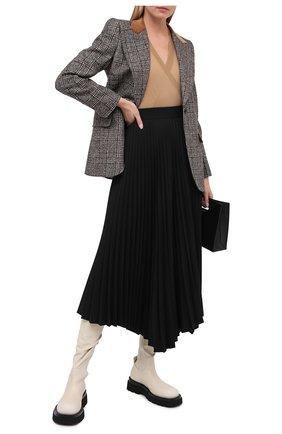 Женская шерстяной пуловер DOLCE & GABBANA бежевого цвета, арт. FX908T/JAVYY | Фото 2