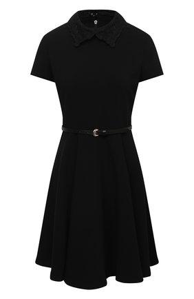 Женское платье ERMANNO ERMANNO SCERVINO черного цвета, арт. 47T AB57 CRE   Фото 1