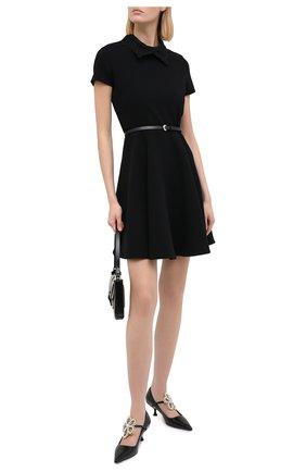 Женское платье ERMANNO ERMANNO SCERVINO черного цвета, арт. 47T AB57 CRE   Фото 2