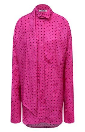 Женская блузка из вискозы BALENCIAGA фуксия цвета, арт. 642258/TJLB4 | Фото 1