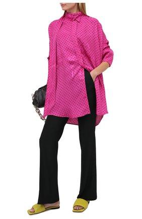 Женская блузка из вискозы BALENCIAGA фуксия цвета, арт. 642258/TJLB4 | Фото 2
