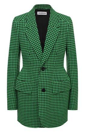 Женский шерстяной жакет BALENCIAGA зеленого цвета, арт. 571278/TIU12 | Фото 1