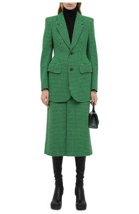 Женский шерстяной жакет BALENCIAGA зеленого цвета, арт. 571278/TIU12 | Фото 2
