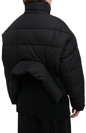 Женский пуховик BALENCIAGA черного цвета, арт. 626542/TYD33 | Фото 4