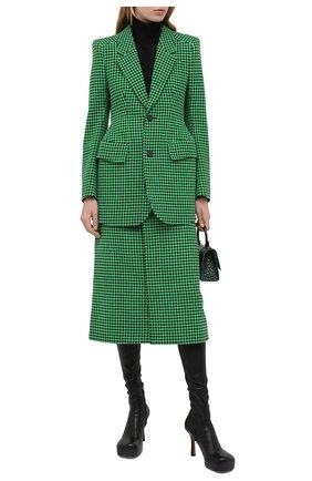 Женская шерстяная юбка BALENCIAGA зеленого цвета, арт. 626564/TIU12 | Фото 2