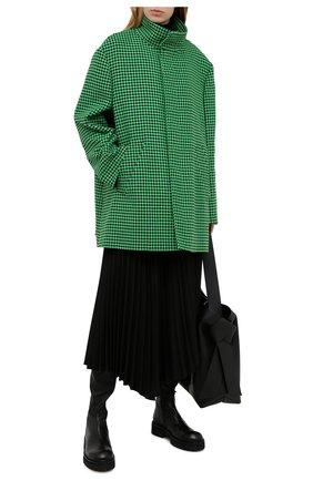 Женское шерстяное пальто BALENCIAGA зеленого цвета, арт. 626572/TIU12 | Фото 2