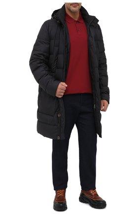 Мужское хлопковое поло PAUL&SHARK бордового цвета, арт. C0P1001/C00/3XL-6XL | Фото 2