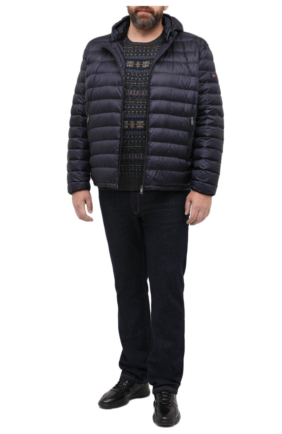 Мужская пуховая куртка PAUL&SHARK синего цвета, арт. C0P2008/GTX/3XL-6XL | Фото 2 (Кросс-КТ: Куртка, Пуховик; Мужское Кросс-КТ: пуховик-короткий, Пуховик-верхняя одежда, Верхняя одежда; Рукава: Длинные; Материал внешний: Синтетический материал; Материал подклада: Синтетический материал; Длина (верхняя одежда): Короткие; Материал утеплителя: Пух и перо; Стили: Кэжуэл)