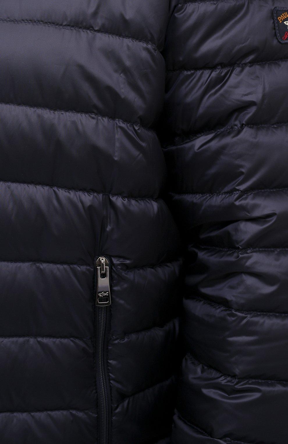 Мужская пуховая куртка PAUL&SHARK синего цвета, арт. C0P2008/GTX/3XL-6XL | Фото 5 (Кросс-КТ: Куртка, Пуховик; Мужское Кросс-КТ: пуховик-короткий, Пуховик-верхняя одежда, Верхняя одежда; Рукава: Длинные; Материал внешний: Синтетический материал; Материал подклада: Синтетический материал; Длина (верхняя одежда): Короткие; Материал утеплителя: Пух и перо; Стили: Кэжуэл)