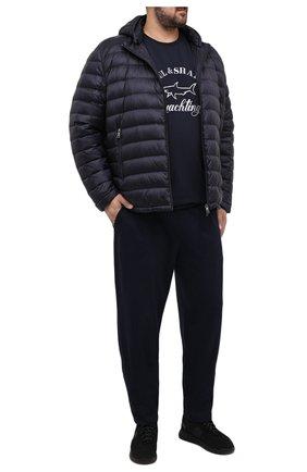 Мужские хлопковые брюки PAUL&SHARK темно-синего цвета, арт. C0P1062/C00/3XL-6XL | Фото 2