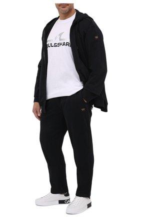 Мужской хлопковый спортивный костюм PAUL&SHARK черного цвета, арт. C0P1064/C00/3XL-6XL | Фото 1