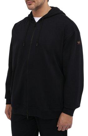 Мужской хлопковый спортивный костюм PAUL&SHARK черного цвета, арт. C0P1064/C00/3XL-6XL | Фото 2