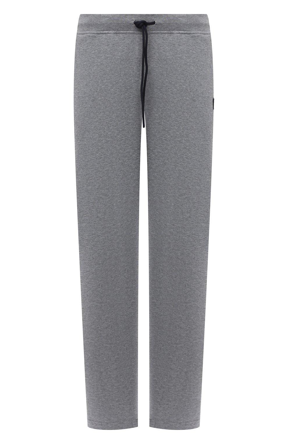 Мужские хлопковые брюки PAUL&SHARK серого цвета, арт. C0P1062/C00/3XL-6XL   Фото 1 (Мужское Кросс-КТ: Брюки-трикотаж; Длина (брюки, джинсы): Стандартные; Случай: Повседневный; Материал внешний: Хлопок; Стили: Спорт-шик)