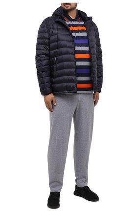 Мужские хлопковые брюки PAUL&SHARK серого цвета, арт. C0P1062/C00/3XL-6XL | Фото 2