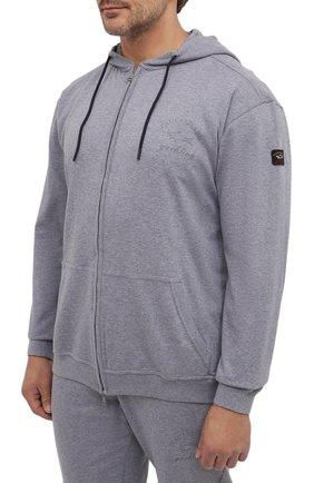 Мужской хлопковый спортивный костюм PAUL&SHARK серого цвета, арт. C0P1065/C00/3XL-6XL | Фото 2