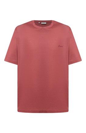 Мужская хлопковая футболка BRIONI кораллового цвета, арт. UJCA0L/PZ600 | Фото 1