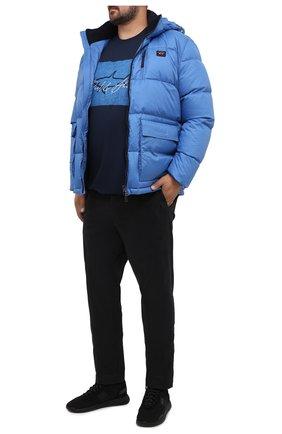 Мужская хлопковая футболка PAUL&SHARK темно-синего цвета, арт. A20P1694/C00/3XL-6XL | Фото 2