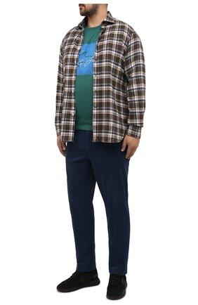 Мужская хлопковая футболка PAUL&SHARK зеленого цвета, арт. A20P1694/C00/3XL-6XL | Фото 2