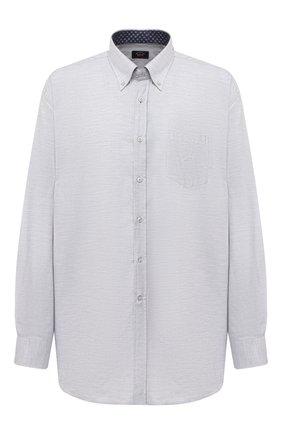 Мужская хлопковая рубашка PAUL&SHARK серого цвета, арт. I20P3064/C00/48-50   Фото 1