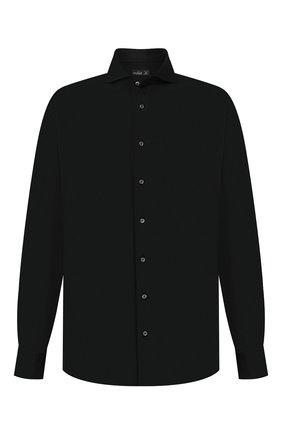Мужская хлопковая рубашка VAN LAACK черного цвета, арт. M-PER-L/180031/3XL | Фото 1