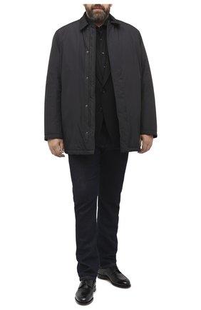 Мужская хлопковая рубашка VAN LAACK черного цвета, арт. M-PER-L/180031/3XL | Фото 2
