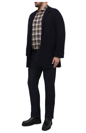 Мужская кардиган из шерсти и кашемира CORTIGIANI темно-синего цвета, арт. 919135/0000/60-70   Фото 2