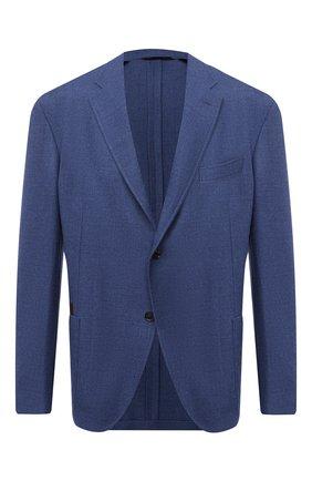 Мужской шерстяной пиджак LUCIANO BARBERA синего цвета, арт. 111210/15064/58-62 | Фото 1