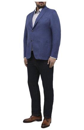 Мужской шерстяной пиджак LUCIANO BARBERA синего цвета, арт. 111210/15064/58-62 | Фото 2