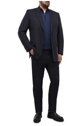 Мужской шерстяной джемпер CANALI синего цвета, арт. C0732B/MK00983 | Фото 2
