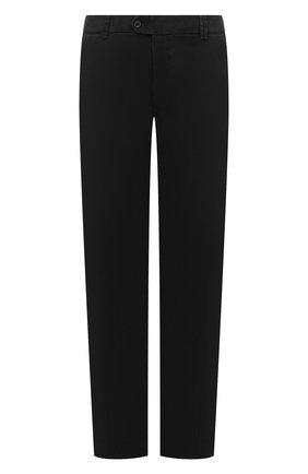 Мужской хлопковые брюки HILTL черного цвета, арт. 72514/60-70 | Фото 1