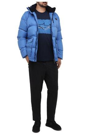 Мужской хлопковые брюки HILTL черного цвета, арт. 72514/60-70 | Фото 2