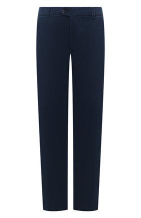 Мужской хлопковые брюки HILTL синего цвета, арт. 72514/60-70 | Фото 1