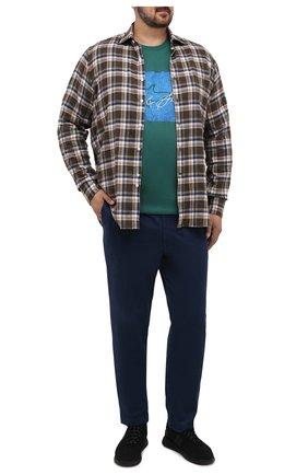 Мужской хлопковые брюки HILTL синего цвета, арт. 72514/60-70 | Фото 2