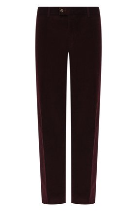 Мужской хлопковые брюки HILTL бордового цвета, арт. 74818/60-70 | Фото 1