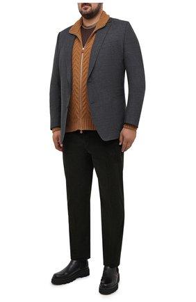Мужская кашемировый кардиган KITON светло-коричневого цвета, арт. UK12069/4XL-8XL | Фото 2