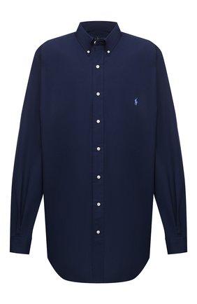 Мужская хлопковая рубашка POLO RALPH LAUREN темно-синего цвета, арт. 711707428/PRL BS | Фото 1
