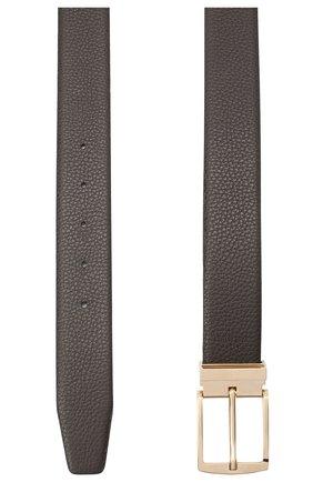 Мужской комплект из двустороннего ремня и двух пряжек GIORGIO ARMANI темно-серого цвета, арт. Y2S298/YSR4T | Фото 2
