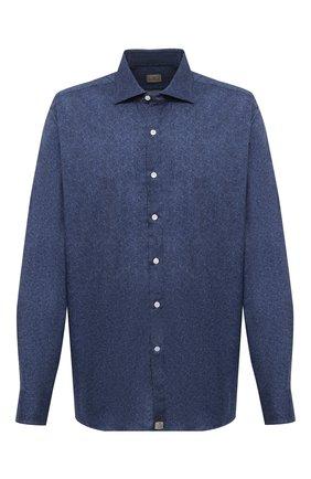 Мужская хлопковая рубашка SONRISA синего цвета, арт. IL7/L1084/47-51   Фото 1