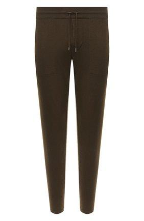 Мужские брюки из хлопка и кашемира LORO PIANA хаки цвета, арт. FAF8497   Фото 1