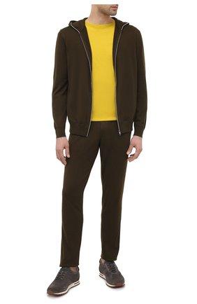 Мужские брюки из хлопка и кашемира LORO PIANA хаки цвета, арт. FAF8497   Фото 2