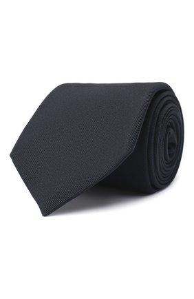 Мужской шелковый галстук RALPH LAUREN темно-синего цвета, арт. 791539586   Фото 1 (Материал: Текстиль; Принт: Без принта)