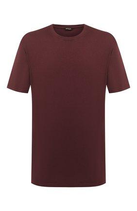 Мужская футболка из хлопка и кашемира KITON бордового цвета, арт. UMK0020/4XL-8XL | Фото 1