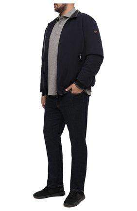 Мужское хлопковое поло POLO RALPH LAUREN серого цвета, арт. 711680792/PRL BS | Фото 2